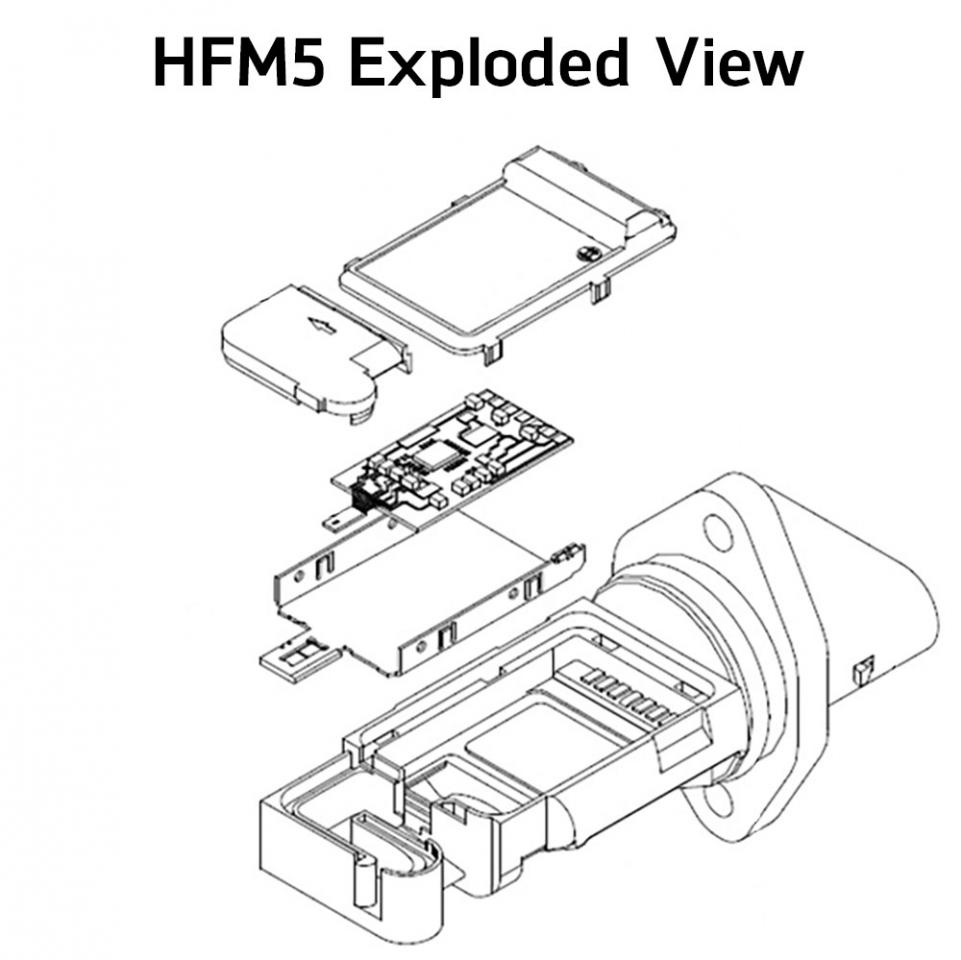 hfm5 sensor housing and measuring tube are designed to accommodate engine  measuring volumes from 370 to