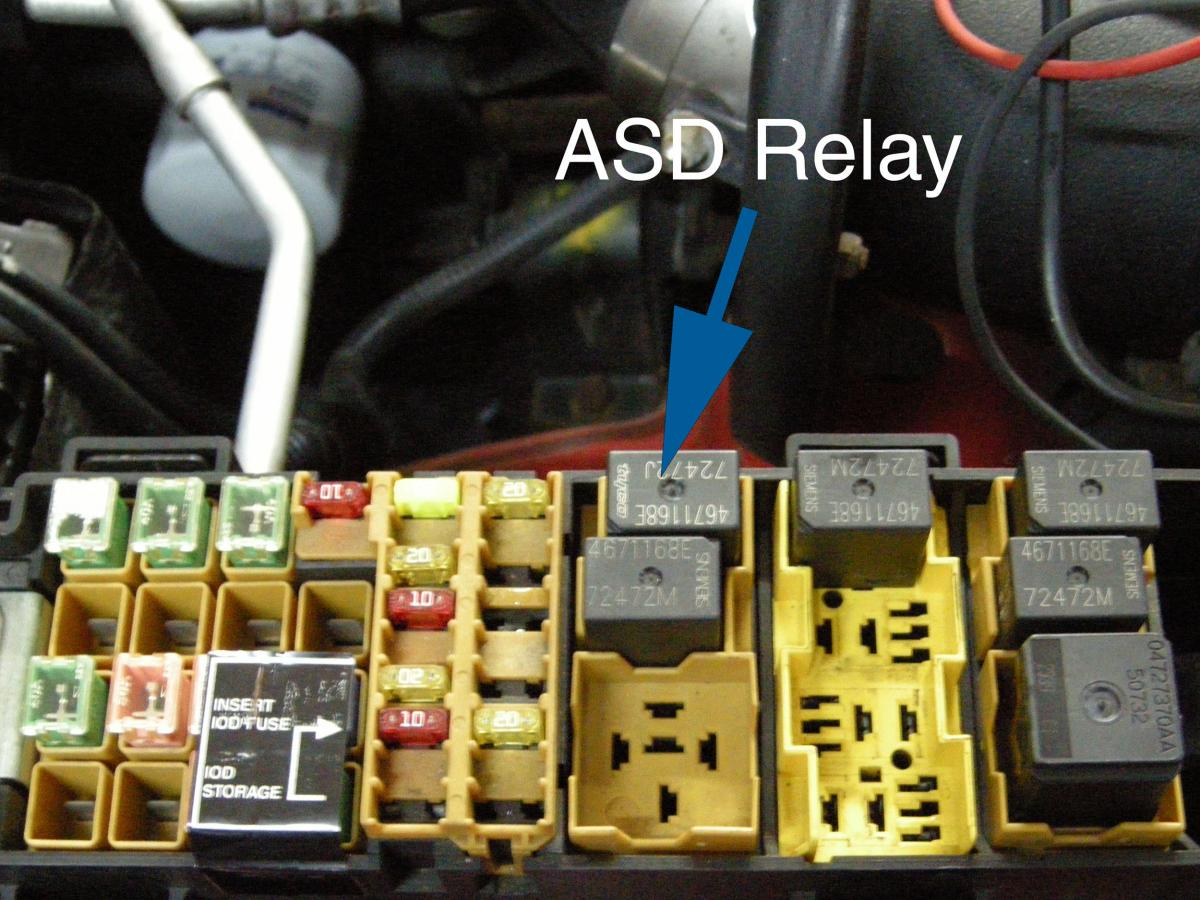With the key in RUN position, the ASD relay would buzz and there was no MIL  light. The missing MIL light indicated a fault with the PCM as did the  buzzing ...