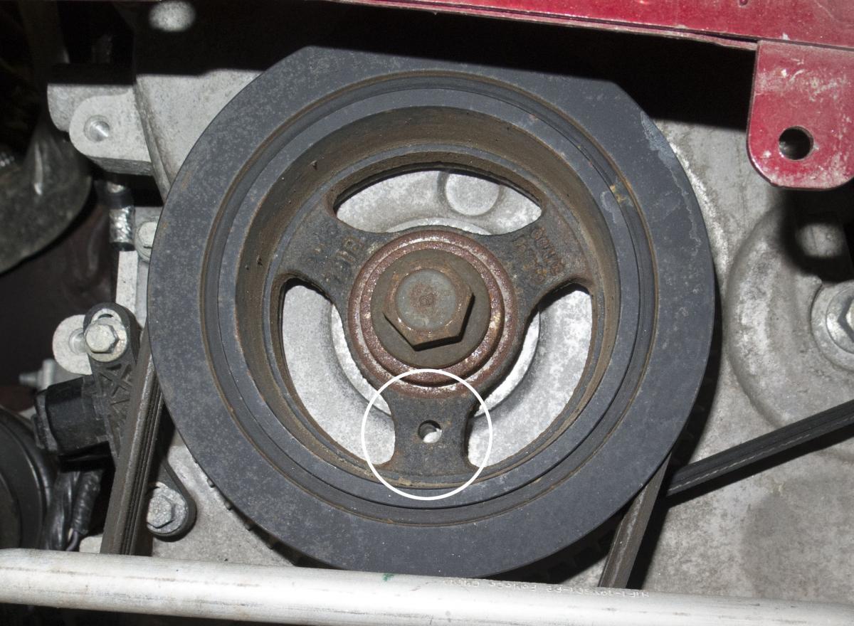 How To Adjust Align the Crankshaft Sensor Ford Ecoboost