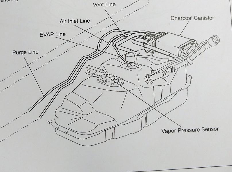 Toyota Tacoma Evaporative Emission Faults