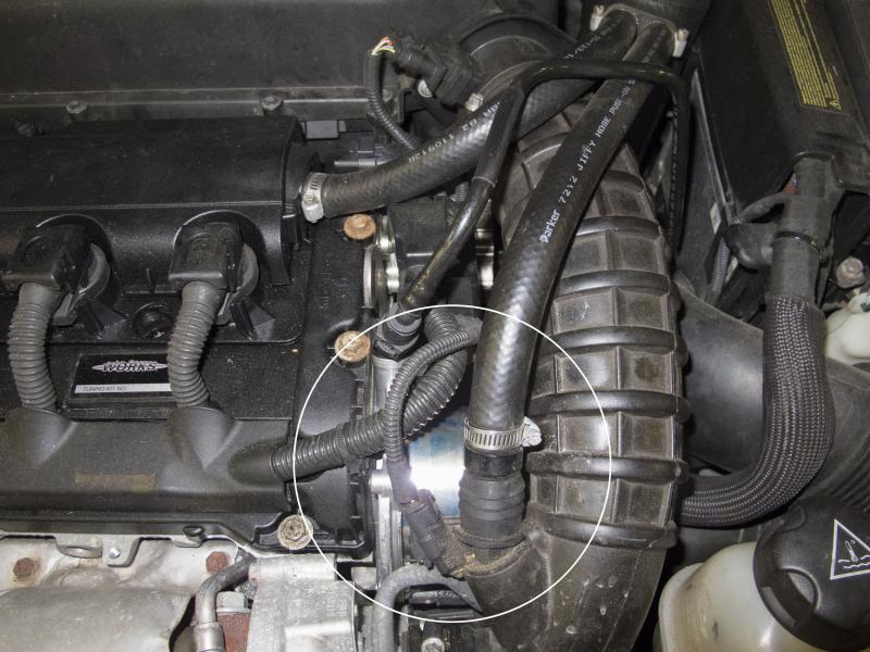 Turbocharged Engine Vacuum Pump Location