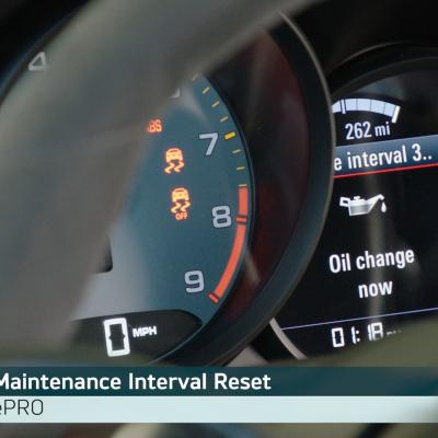 How to Reset the Maintenance Interval Message on Porsche models